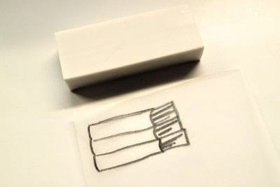How to make a stamper. Book Stamp - Step 2