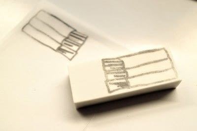 How to make a stamper. Book Stamp - Step 4