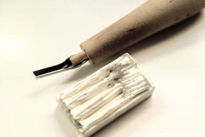 How to make a stamper. Book Stamp - Step 6