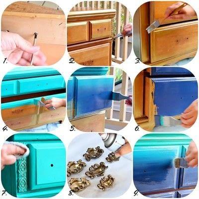 How to make a drawer / dresser. Underwater Mermaid Dresser - Step 2