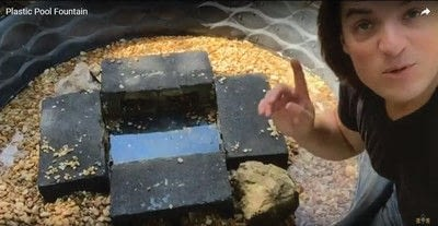 How to make a garden decoration. Plastic Pool Fountain - Step 7