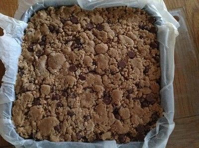How to bake a batch of cookie brownies. Cookie Dough Brownies  - Step 10
