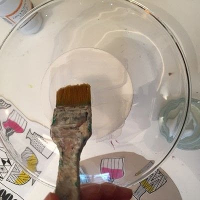 How to make a plate. Decoupage A Glass Plate - Step 5