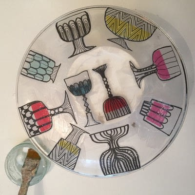 How to make a plate. Decoupage A Glass Plate - Step 7