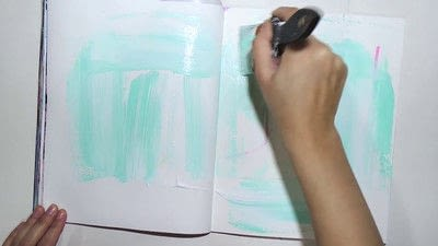 How to make a mixed media. Raw Art Journaling Tutorial - Step 1