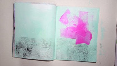 How to make a mixed media. Raw Art Journaling Tutorial - Step 2