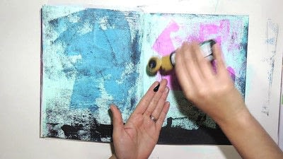 How to make a mixed media. Raw Art Journaling Tutorial - Step 3