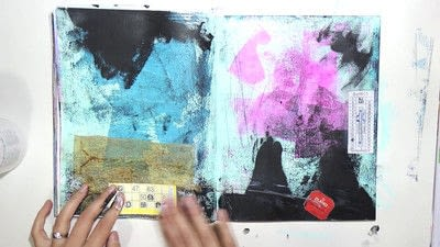 How to make a mixed media. Raw Art Journaling Tutorial - Step 4