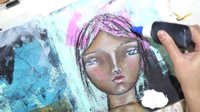 How to make a mixed media. Raw Art Journaling Tutorial - Step 8