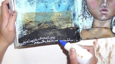 How to make a mixed media. Raw Art Journaling Tutorial - Step 9