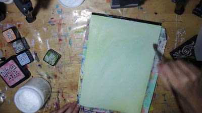 How to paint a piece of watercolor art. Watercolour Effect Stamping Technique - Step 4
