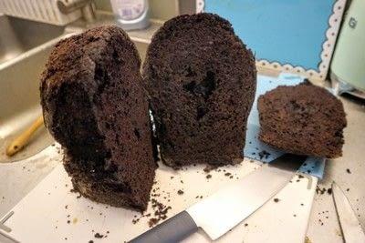 How to bake a red velvet cake. Black Velvet Skull Cake - Step 6
