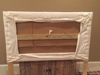 How to make a bed headboard. Easy Tufted Headboard - Step 5
