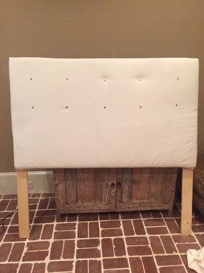 How to make a bed headboard. Easy Tufted Headboard - Step 7