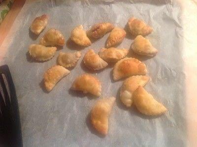 How to bake a pastry. Cherry Chebureki  - Step 5