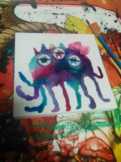 How to paint a piece of watercolor art. How To Create A Monster!!! - Step 5