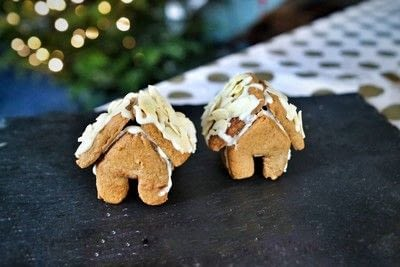 How to bake a gingerbread cookie. Mini Gingerbread Houses - Step 18