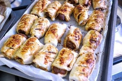 How to cook a sausage roll. Bbq Nacho Sausage Rolls - Step 8
