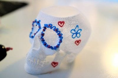 How to make a vase. 3 D Sugar Skull Holder - Step 7
