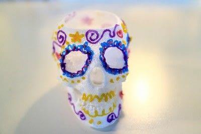 How to make a vase. 3 D Sugar Skull Holder - Step 9