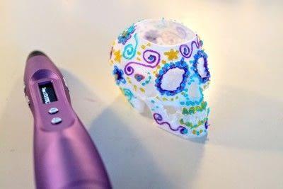 How to make a vase. 3 D Sugar Skull Holder - Step 12