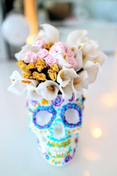 How to make a vase. 3 D Sugar Skull Holder - Step 13