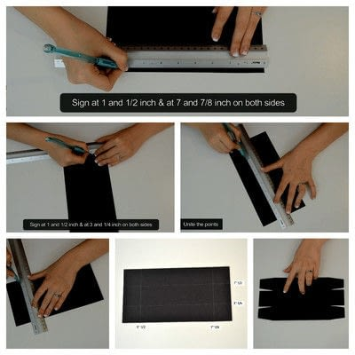 How to cut a piece of papercutting. Diy Crafts   How To Make A Camera Box   Mini Album - Step 8