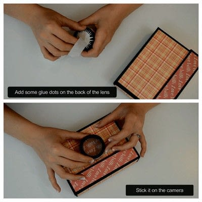 How to cut a piece of papercutting. Diy Crafts   How To Make A Camera Box   Mini Album - Step 15