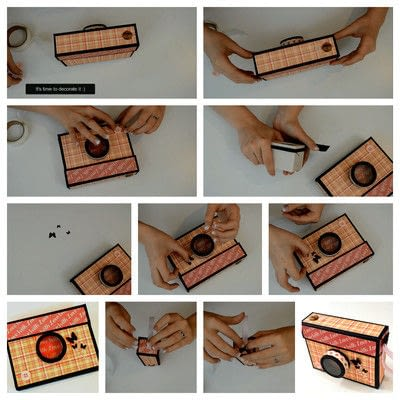 How to cut a piece of papercutting. Diy Crafts   How To Make A Camera Box   Mini Album - Step 16