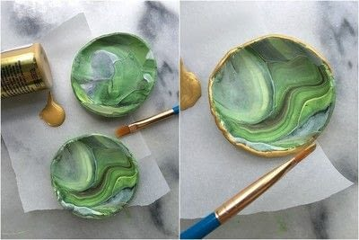 How to make an accessory. Marbled Ring Dish - Step 7