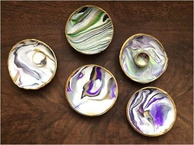 How to make an accessory. Marbled Ring Dish - Step 8