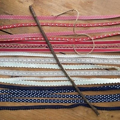 How to make a flag. Patriotic Ribbon Flag - Step 2