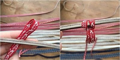 How to make a flag. Patriotic Ribbon Flag - Step 3