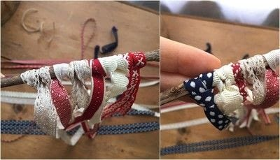 How to make a flag. Patriotic Ribbon Flag - Step 4