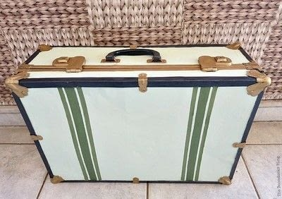 How to make a suitcase / trunk. Vintage Suitcase Upcycle - Step 6