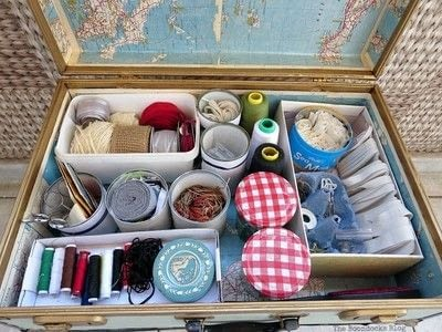 How to make a sewing kits. Freshening Up The Interior Of The Vintage Suitcase - Step 4