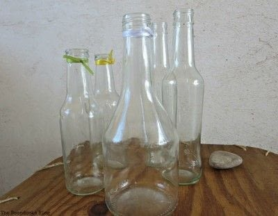 How to make a vase. How To Re-purpose Soy Sauce Bottles - Step 1