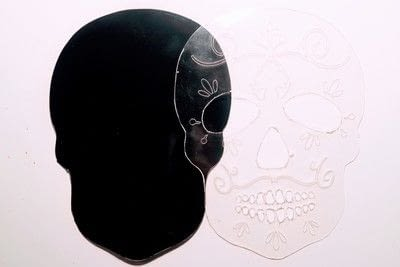 How to make a shrink plastic brooch. Sugar Skull Brooch - Step 1