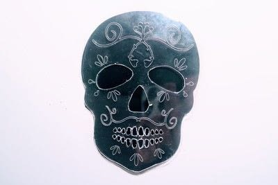 How to make a shrink plastic brooch. Sugar Skull Brooch - Step 2