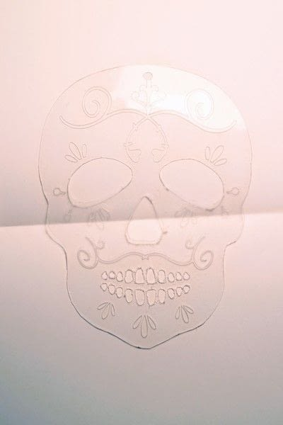 How to make a shrink plastic brooch. Sugar Skull Brooch - Step 3