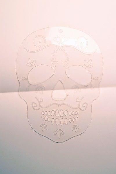 How to make a shrink plastic brooch. Sugar Skull Brooch - Step 3
