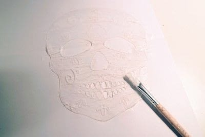 How to make a shrink plastic brooch. Sugar Skull Brooch - Step 4