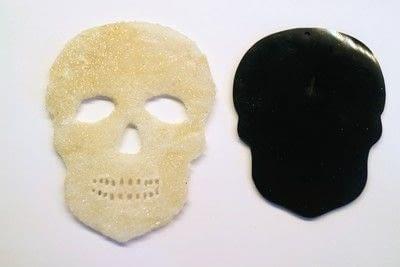 How to make a shrink plastic brooch. Sugar Skull Brooch - Step 6