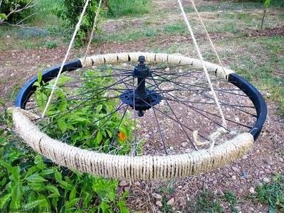 How to make chimes. Turning A Tire Rim Into A Wind Chime - Step 2