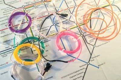 How to make a decorative light. Light Up London Underground Map - Step 6