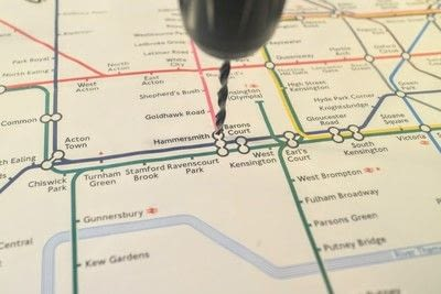 How to make a decorative light. Light Up London Underground Map - Step 8