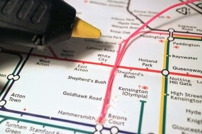 How to make a decorative light. Light Up London Underground Map - Step 12
