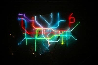 How to make a decorative light. Light Up London Underground Map - Step 37