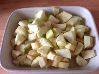 How to cook a baked treat. Apple Cobbler  - Step 1