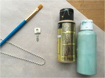 How to make a pendant necklace. Painted Key Necklace - Step 1